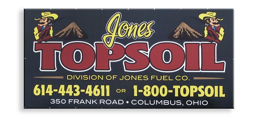 Jones Topsoil Signs Amp Banners Columbus Ohio Auto Wraps